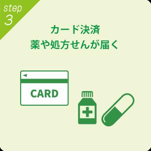 カード決済 薬や処方箋が届く